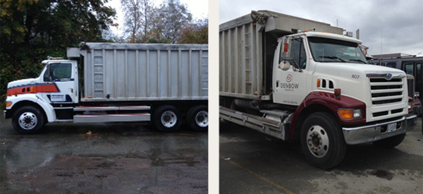 Truck #807 before and after new paint and decals!