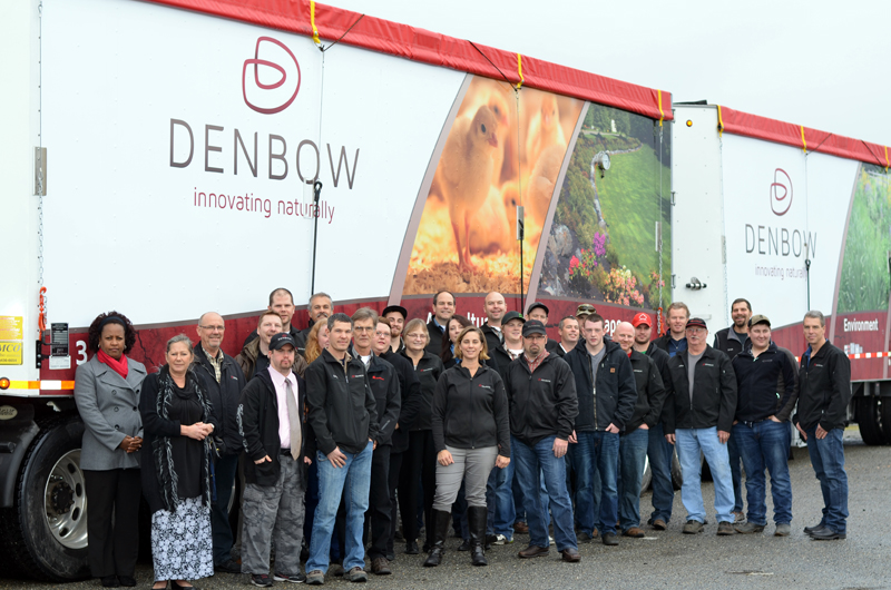 The Denbow team today with our current logo