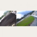 Severe Slope Stabilization & Revegation - Compost Blanket along Sea to Sky HIghway