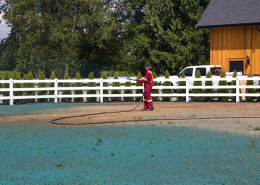 Hydroseeding over gravel
