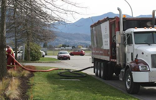 Blower Truck Service - installation on commercial project