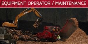 equipment operator maintenance