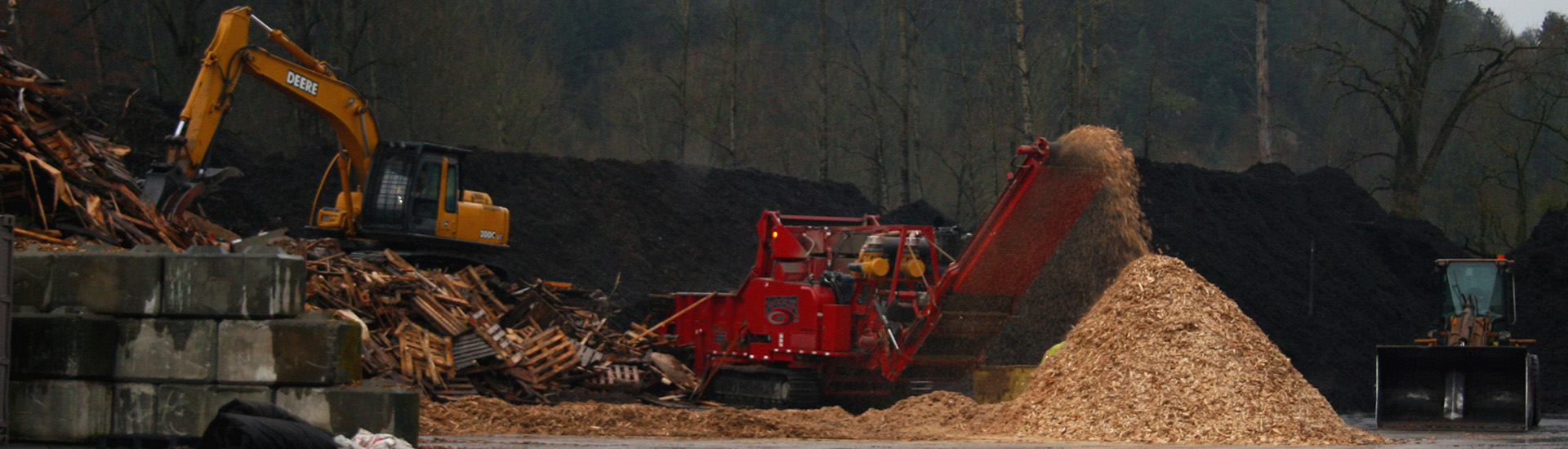 grinding woodwaste at Denbow