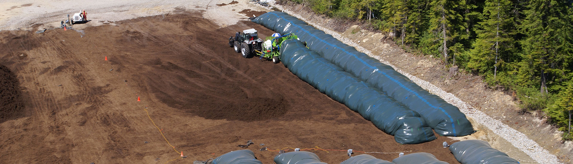 Whistler Onsite Composting with AG-BAG system
