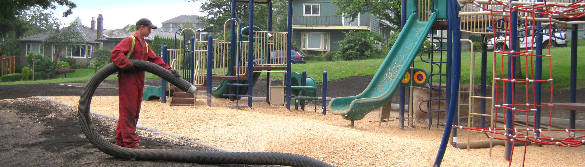 Playground wood chips as ground cover
