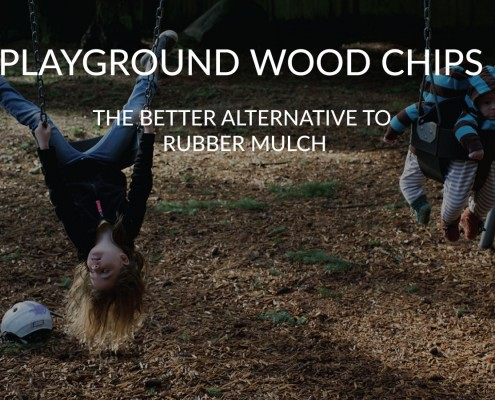 wood chips are the better ground cover to rubber mulch on playgrounds