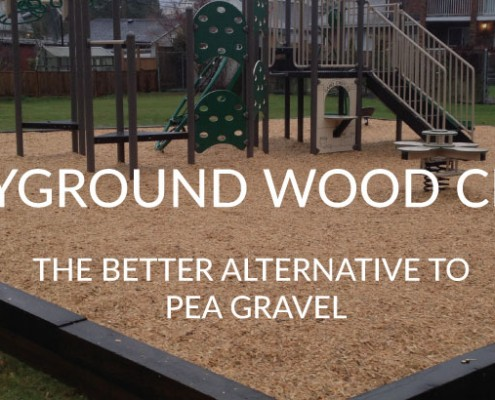 playground wood chips are the safe alternative to pea gravel