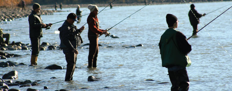 erosion control fraser river people fishing