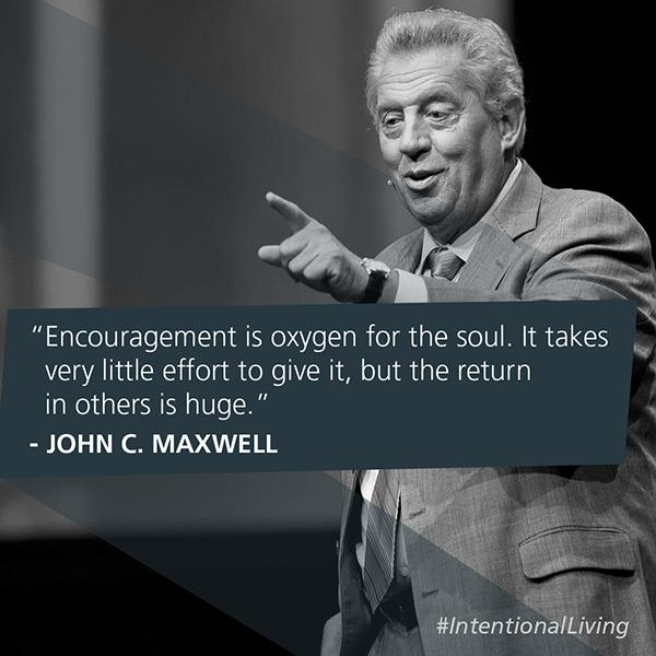 Leadership - Inentional Living - encouragement