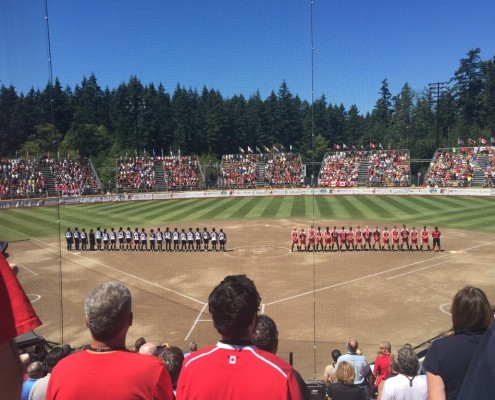 team canada womens softball team in softball city surrey