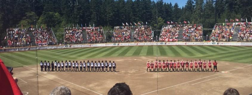team canada womens softball team in softball city surrey