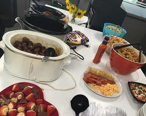Denbow office staff potluck