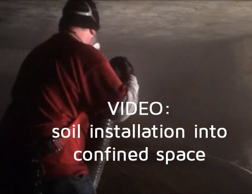 soil blow confined space