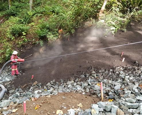 EcoBlanket riprap compost Langley Denbow